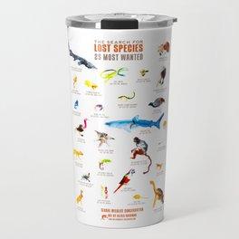 Top 25 Lost Species Travel Mug