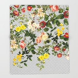 Points and Flowers Pattern Throw Blanket