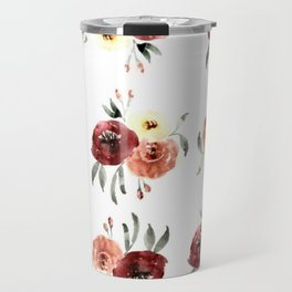 blush and wine watercolor Travel Mug