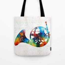 Colorful French Horn - Color Fusion By Sharon Cummings Tote Bag