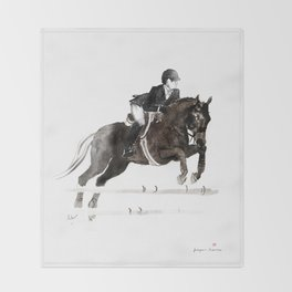 Horse (Jumper II) Throw Blanket