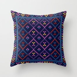 Bohemian Kilim Ethnic Pattern 1 Throw Pillow