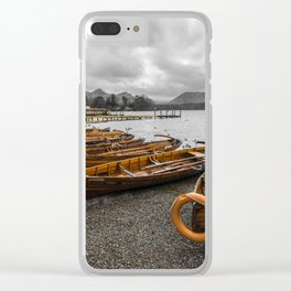 Boats at Derwent Water Clear iPhone Case