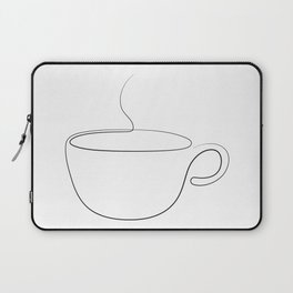 coffee or tea cup - line art Laptop Sleeve