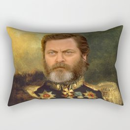 Nick Offerman Classical Painting Photoshop Rectangular Pillow