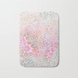 Geo batik pattern - pink Bath Mat