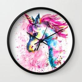 Pink Unicorn Wall Clock