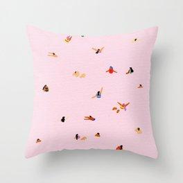 Pink! Throw Pillow