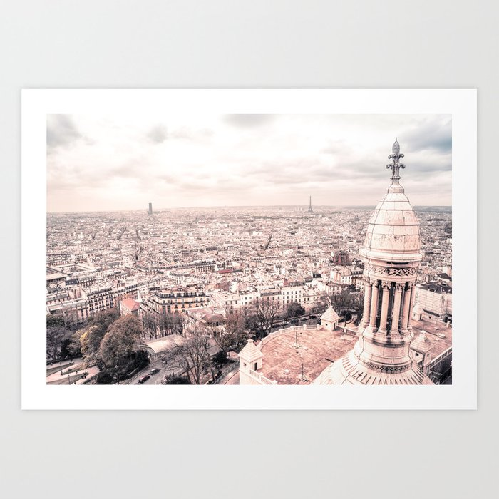 Paris from Above - View from the top of Sacre Coeur Art Print