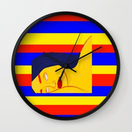 primary chic Wall Clock