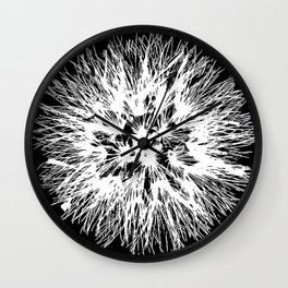 Make A Wish Dandelion Vector In White Wall Clock
