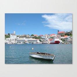 Boat all alone Canvas Print