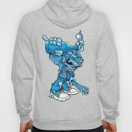Anarchy Skeleton -  Iris Blue bottle fire skull Hoody