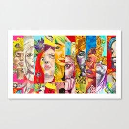Female Faces Portrait Collage Design 1 Canvas Print