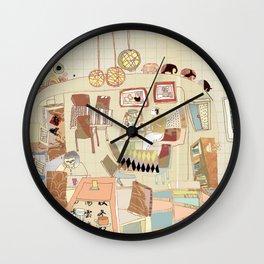 ---garden--cafe--- Wall Clock