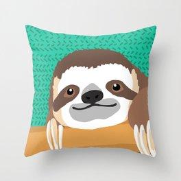 Brad Sloth Throw Pillow