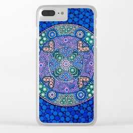 TIME OF NOW MANDALA Clear iPhone Case