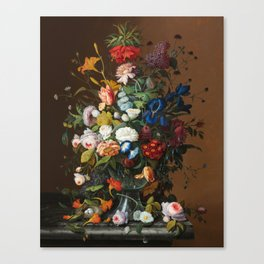 Flower Still Life with Bird's Nest, 1853 Canvas Print