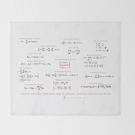 High-Math Inspiration 01 - Red & Black Throw Blanket