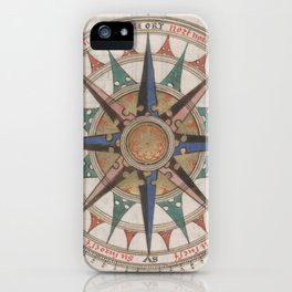 Historical Nautical Compass (1543) iPhone Case