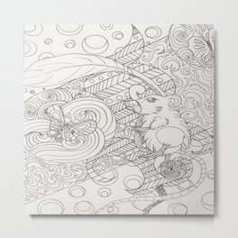 Mouse Love Metal Print