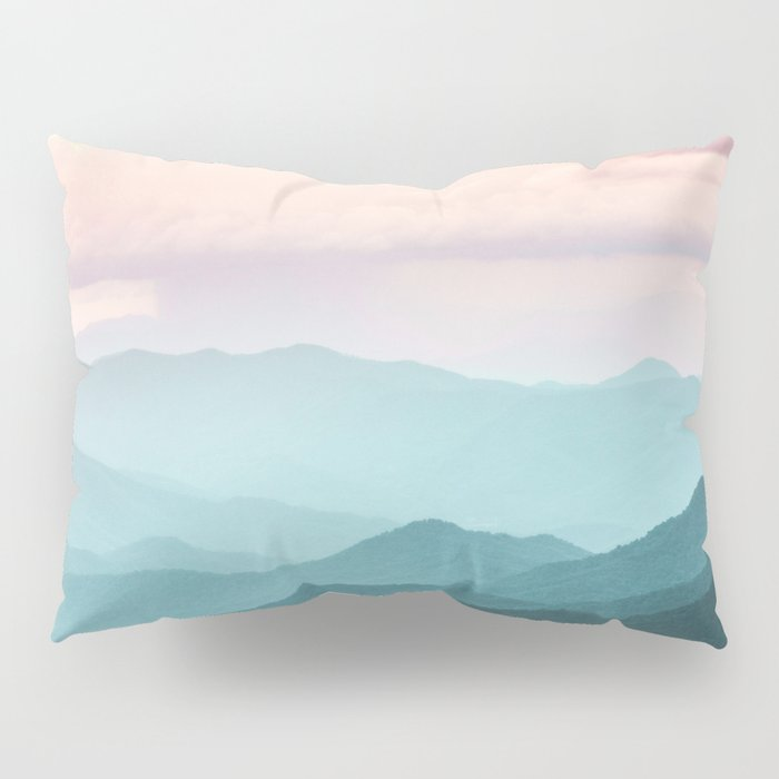 Smoky Mountain National Park Sunset Layers II - Nature Photography Pillow Sham