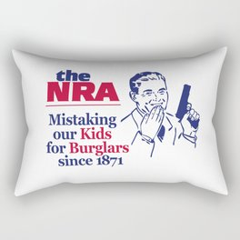 NRA - Mistaking Our Kids for Burglars Since 1871 Rectangular Pillow