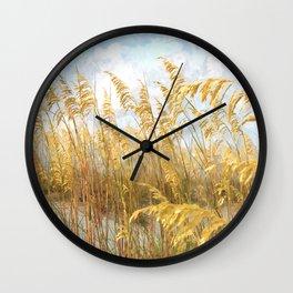 Sea Oats Wall Clock