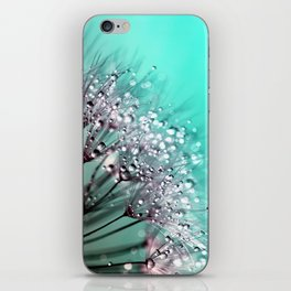 Diamond Blue Water Droplets iPhone Skin