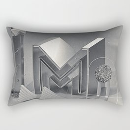 "Retro-futurism ""M"" Rectangular Pillow"