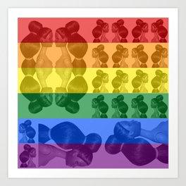BARBIE ARMY - Rainbow Flag Art Print