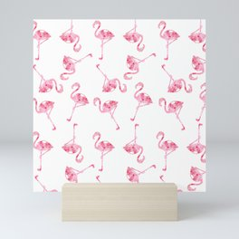 mini flamingos Mini Art Print