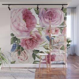 WATERCOLOR ROSES Wall Mural