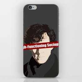Sherlock: High-Functioning Sociopath iPhone Skin