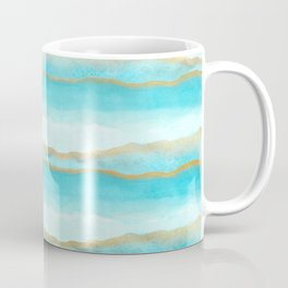 Gold and blue sea Coffee Mug