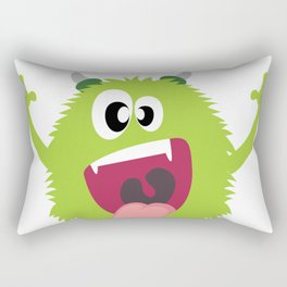 Monster Under Your Bed - Happy April Fool's Day Rectangular Pillow