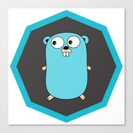 Golang Go cute Squirrel baby programming Mouse sticker Canvas Print