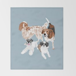 Barclay, Rhett, Ozzie and Gus Throw Blanket