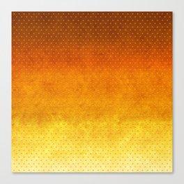 """Sabana Sunset Degraded Polka Dots"" Canvas Print"