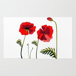 Poppies Ascending (transparency) Rug