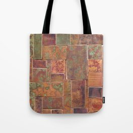 Red Patina Patchwork Tote Bag