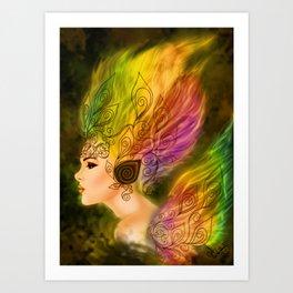 Flame of life Art Print