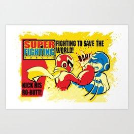 Super Fighting Robots Art Print