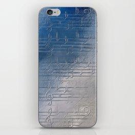 Silver music iPhone Skin