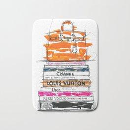 Birkin Bag and Fashion Books Bath Mat