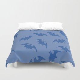 Blue Bats Duvet Cover