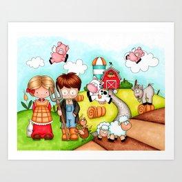 Raised on a Farm Art Print