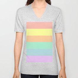 Pastel Rainbow Unisex V-Neck