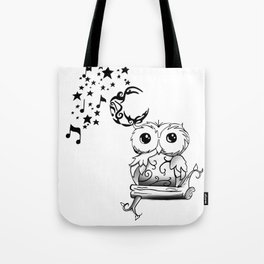 Intricate Owl at Musical Midnight Tote Bag