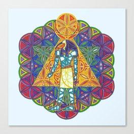 Sacred Geometry Thoth Mandala II Canvas Print